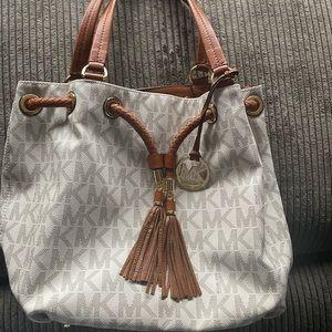 Michael Kors Vanilla Drawstring Handbag